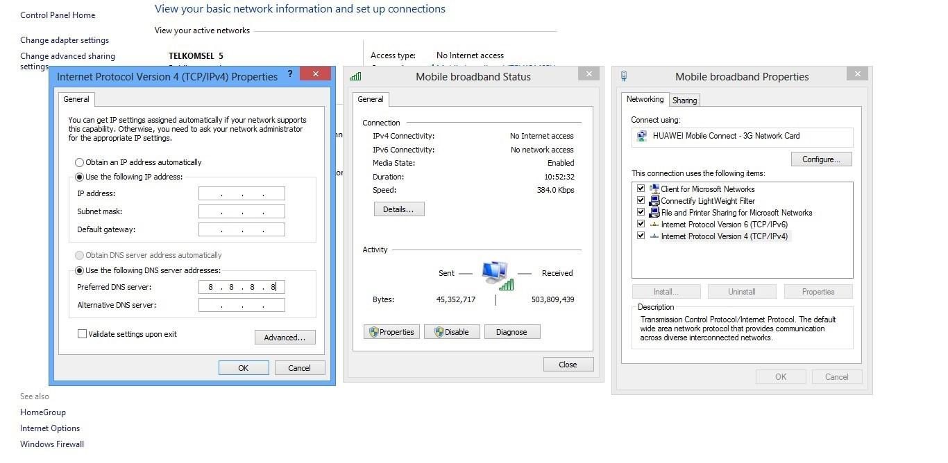 Klik Properties lalu pilih Internet Protocol Version 4 (TCP/IPv4) klik ...