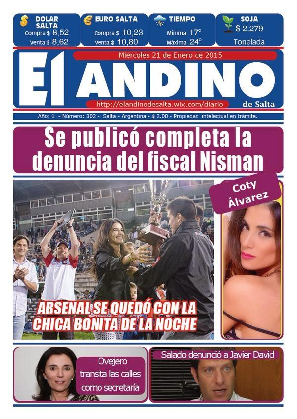 Coty Alvarez en diario El Andino