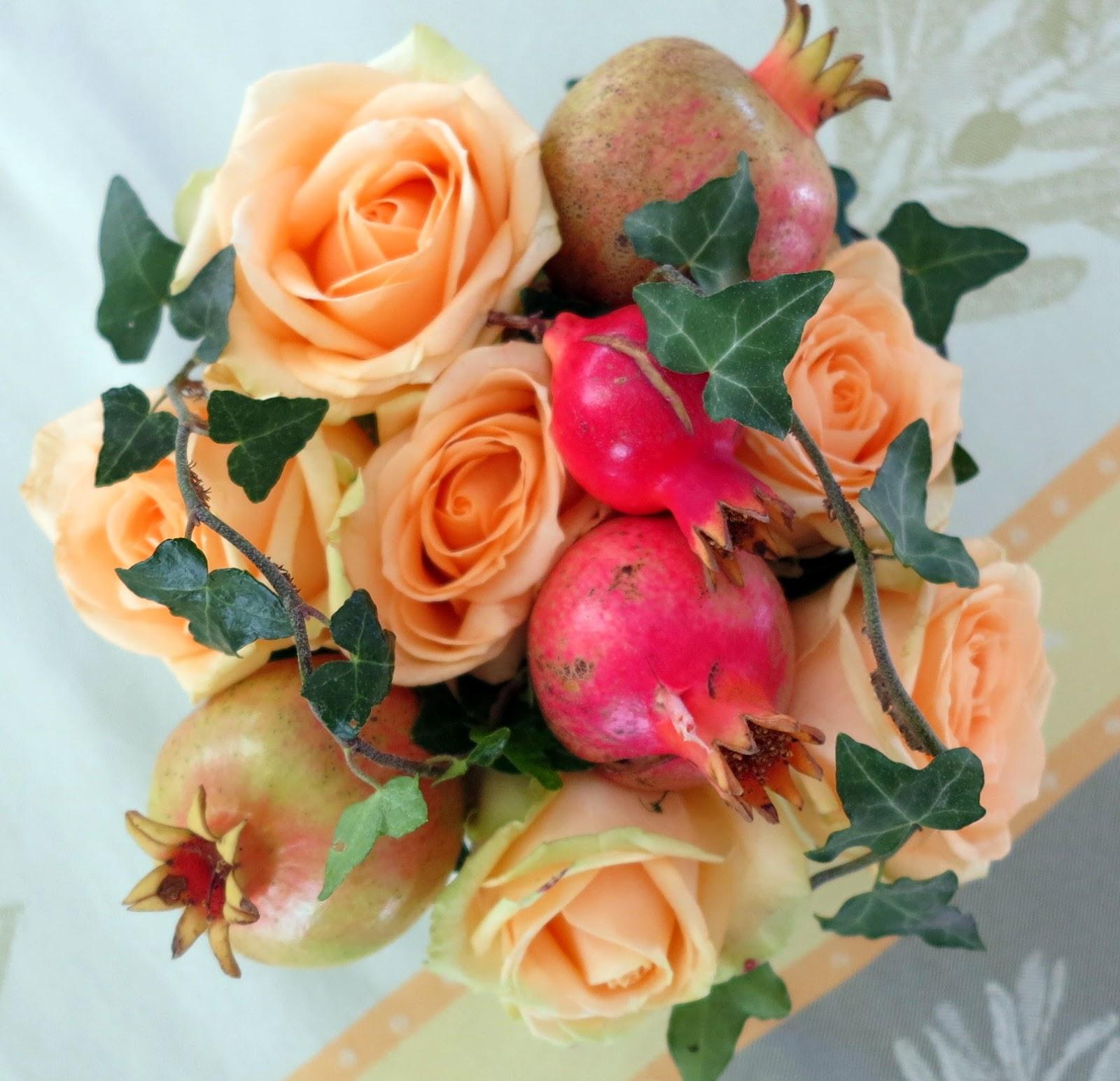 Ambiances et gourmandises de mj couleurs d 39 automne - Composition florale automne ...
