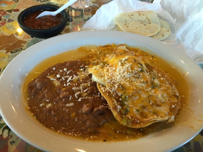 Huevos rancheros at Mosaic Cafe in Tucson AZ