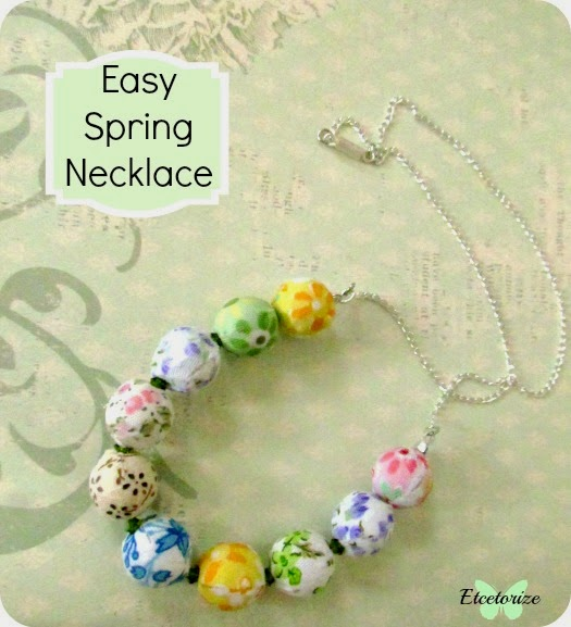 DIY Necklace, Beaded Necklace, DIY Jewellery, Fabric Covered Beads