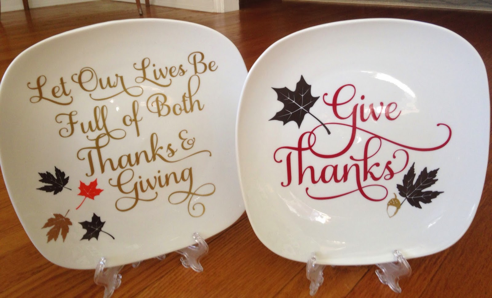 1 diy thanksgiving decorative plates and a giveaway