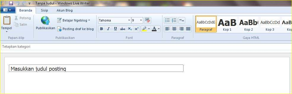 Blogging Offline Dengan Windows Live Writer by http://blogbelajar2.blogspot.com/
