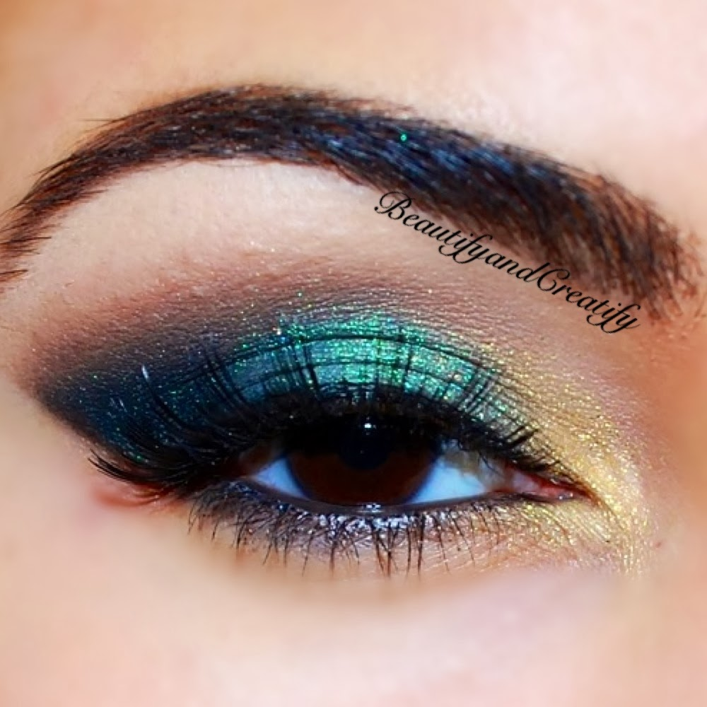 Beautify and Creatify: Shimmery Turquoise and Gold Holiday Makeup ...
