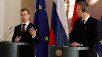 Russian President Dmitry Medvedev, left, and German President Christian Wulff.