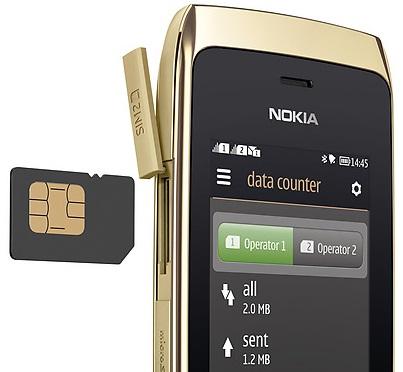 Nokia Asha 308 Full Touch Dual SIM Harga Rp 699 Ribu.