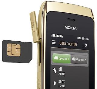Nokia Asha 308 Full Touch Dual SIM Harga Rp 699 Ribu