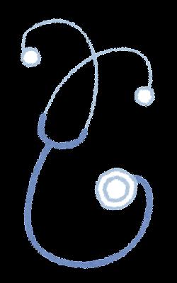 聴診器のイラスト(医療)