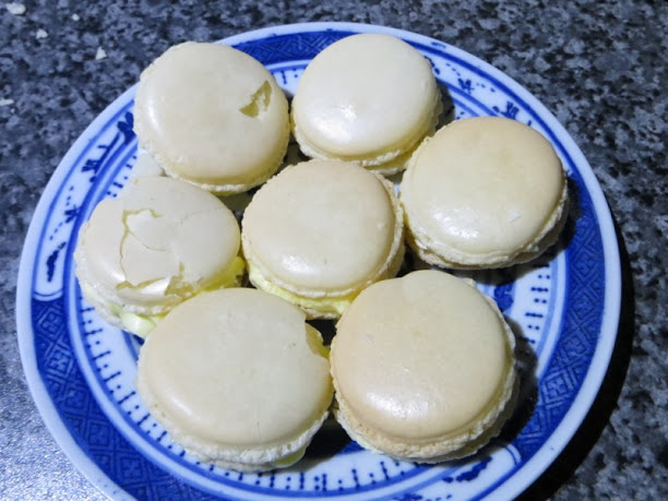 French macarons with vanilla buttercream