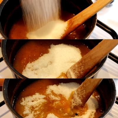 Cinquième étape : Ajouter le sucre au melon