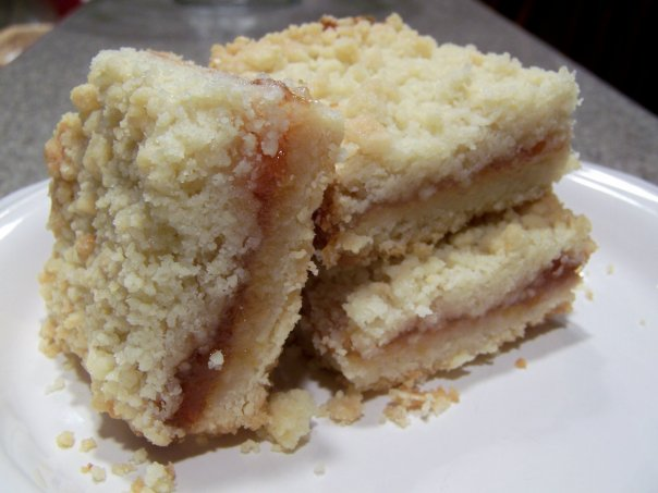 Oven Lovin': Peach Almond Crumb Bars