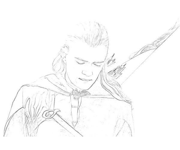 Lord of the Rings Legolas Coloring Pages