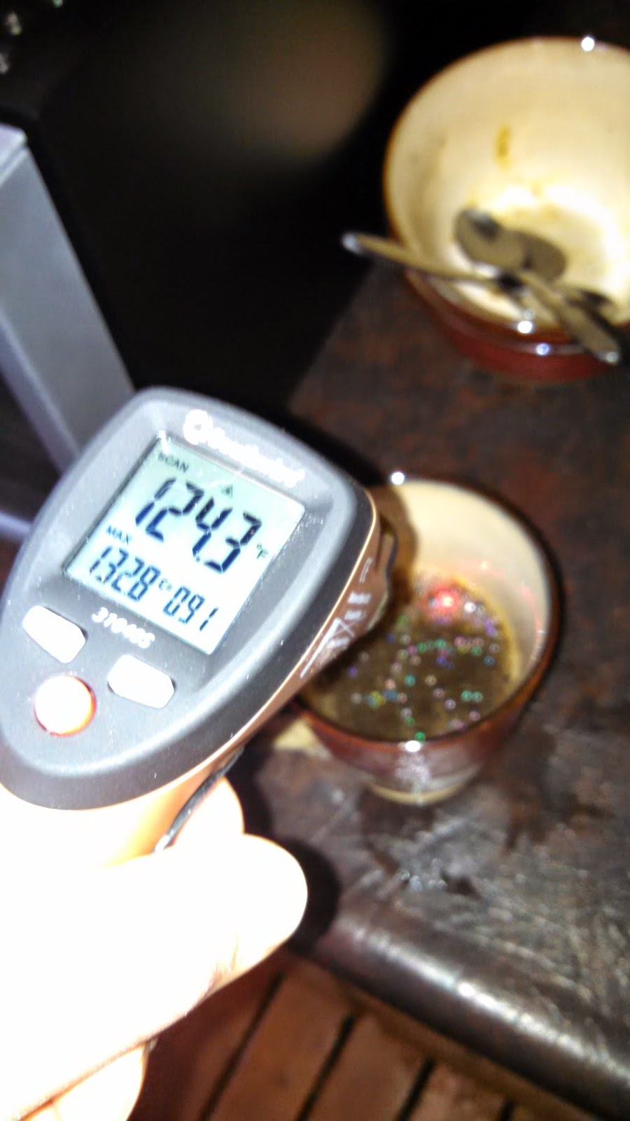 Measuring Coffee Temperature in the Cup at Serving Temperature