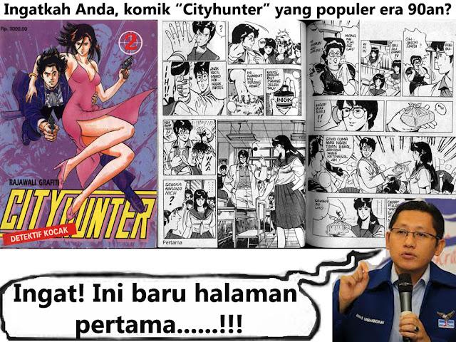 """Hobby Mas Nanas Ubaningrum sewaktu jadi mahasiswa tahun 90an, selain aktif di HMI juga suka baca komik """"CityHunter"""""""