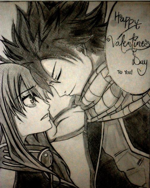 Natsu and Lucy Valentine