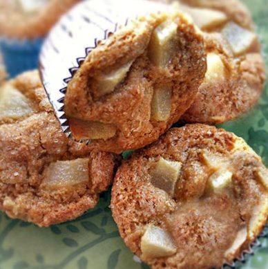 Gluten-Free Pear Polenta Muffins - Gluten-Free Goddess Recipes