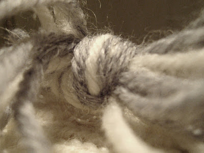 Knot of yarn