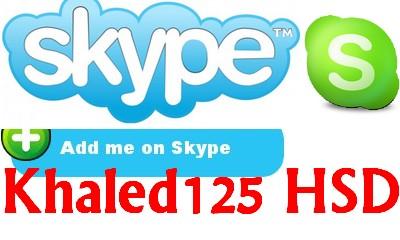 KhaledHSD Skype: