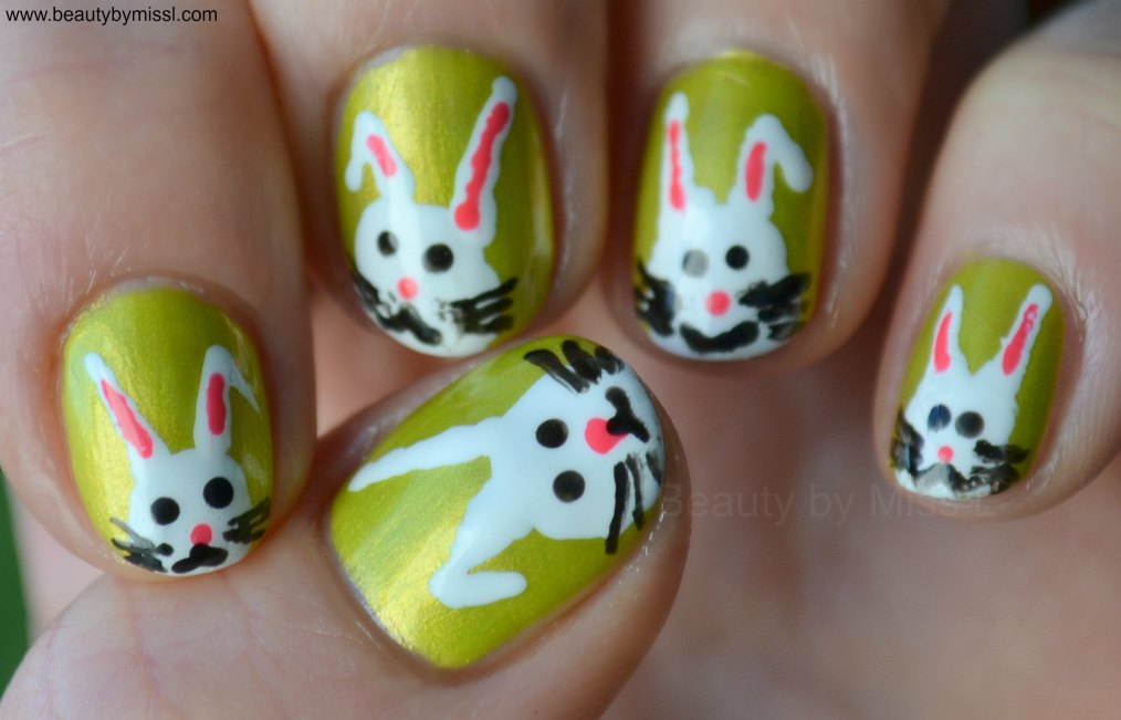 bunny nail art for Easter