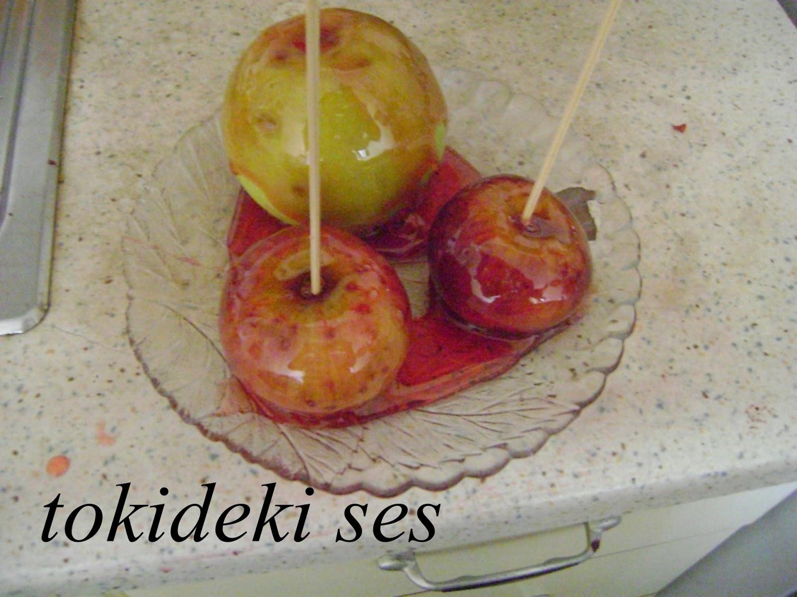 ELMA ŞEKERİ YAPTIM, çocuklarım, tarifler, elma şekeri, tokideki sesin mutfağından, TOKİDEKİ SESİN EVİNDEN, lezzetli tarifler, EĞLENCELİ TARİFLER, YEMEK,