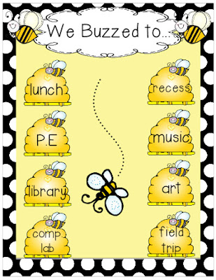 https://www.teacherspayteachers.com/Product/Where-are-we-bee-themed-sign-1340041