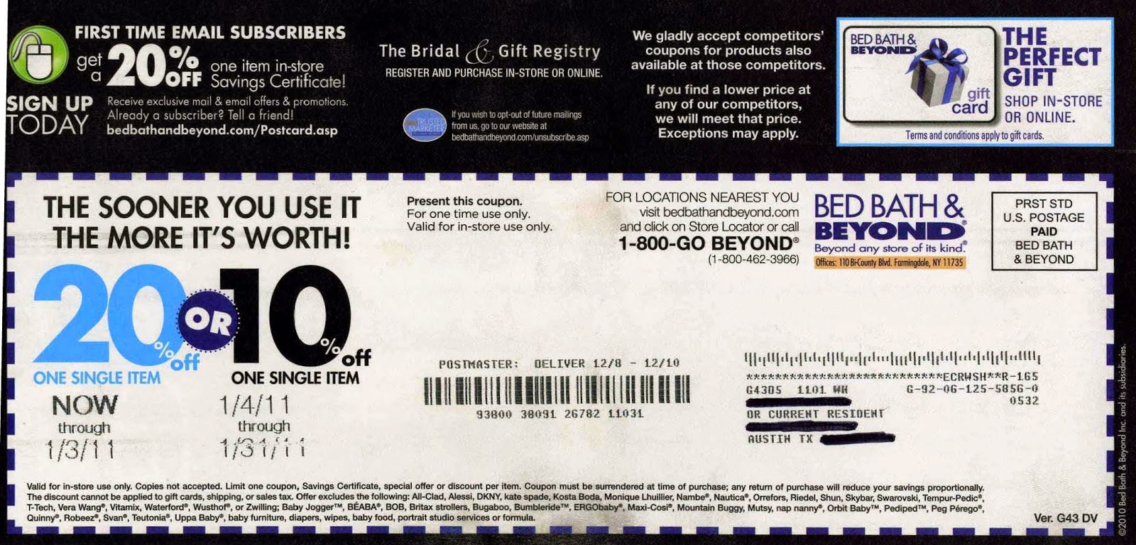 Bed bath and beyond.ca coupon code