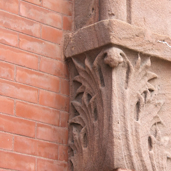 detail from vintage masonry embellishment in Minneapolis Minnesota