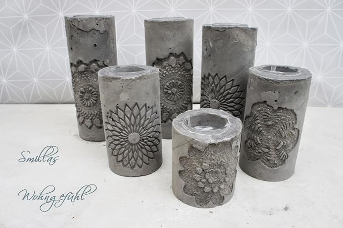 diy portavelas de cemento personalizables alquimia deco. Black Bedroom Furniture Sets. Home Design Ideas