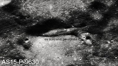 pareidolia nave NAsa Luna Apolo 2 extraterrestre