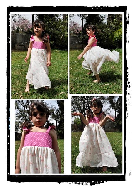 שמלה חגיגית מסתובבת לילדה