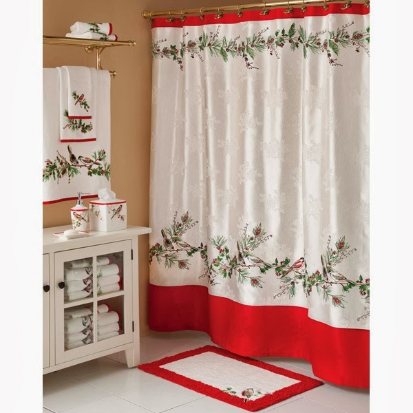 Christmas Bathroom Decor : Shabby in love bathroom decorating ideas for christmas
