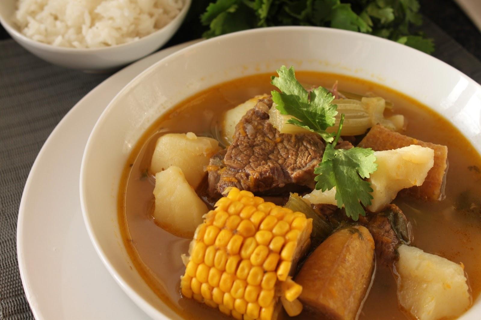 My Epicurean Delights: Sancocho... (Colombian short rib soup)