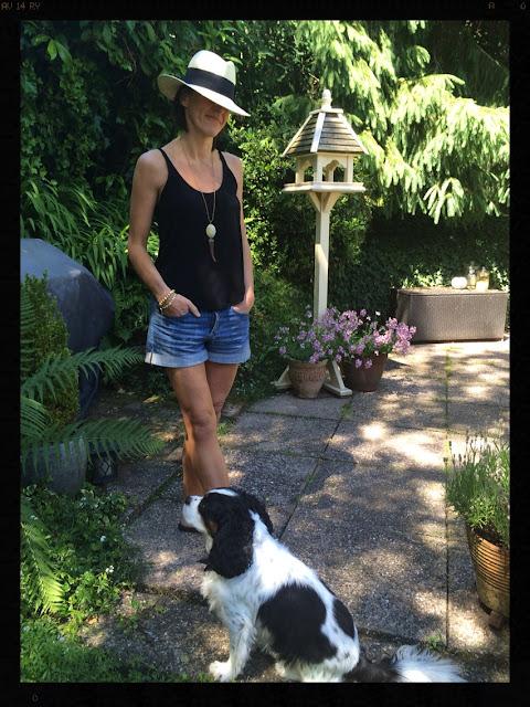 My Midlife Fashion, Panama Hat, Denim Shorts, Havaianas, Tusk Necklace, H and M, Zara, La Redoute Ashiana Jewellery