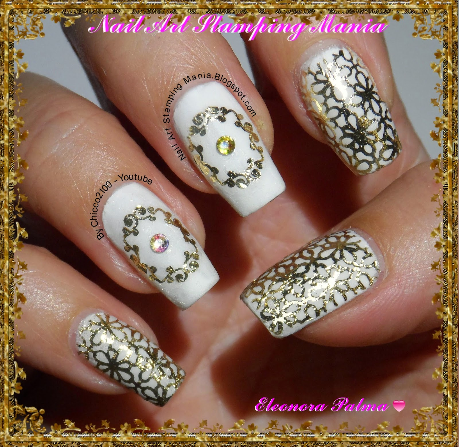 Nail Art Stamping Mania: Stamping With Foil And QA Plates