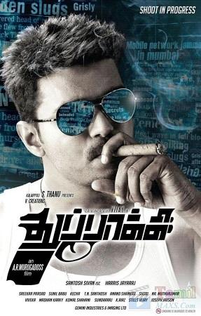 Poster Of Thuppakki 2012 Dual Audio 720p BRRip [Hindi-Tamil] ESubs Free Download Watch Online