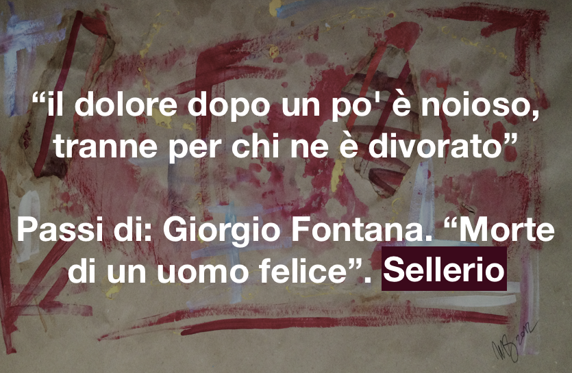 Cit. Morte di un uomo felice, Giorgio Fontana, su Esternazione di Monica Spicciani