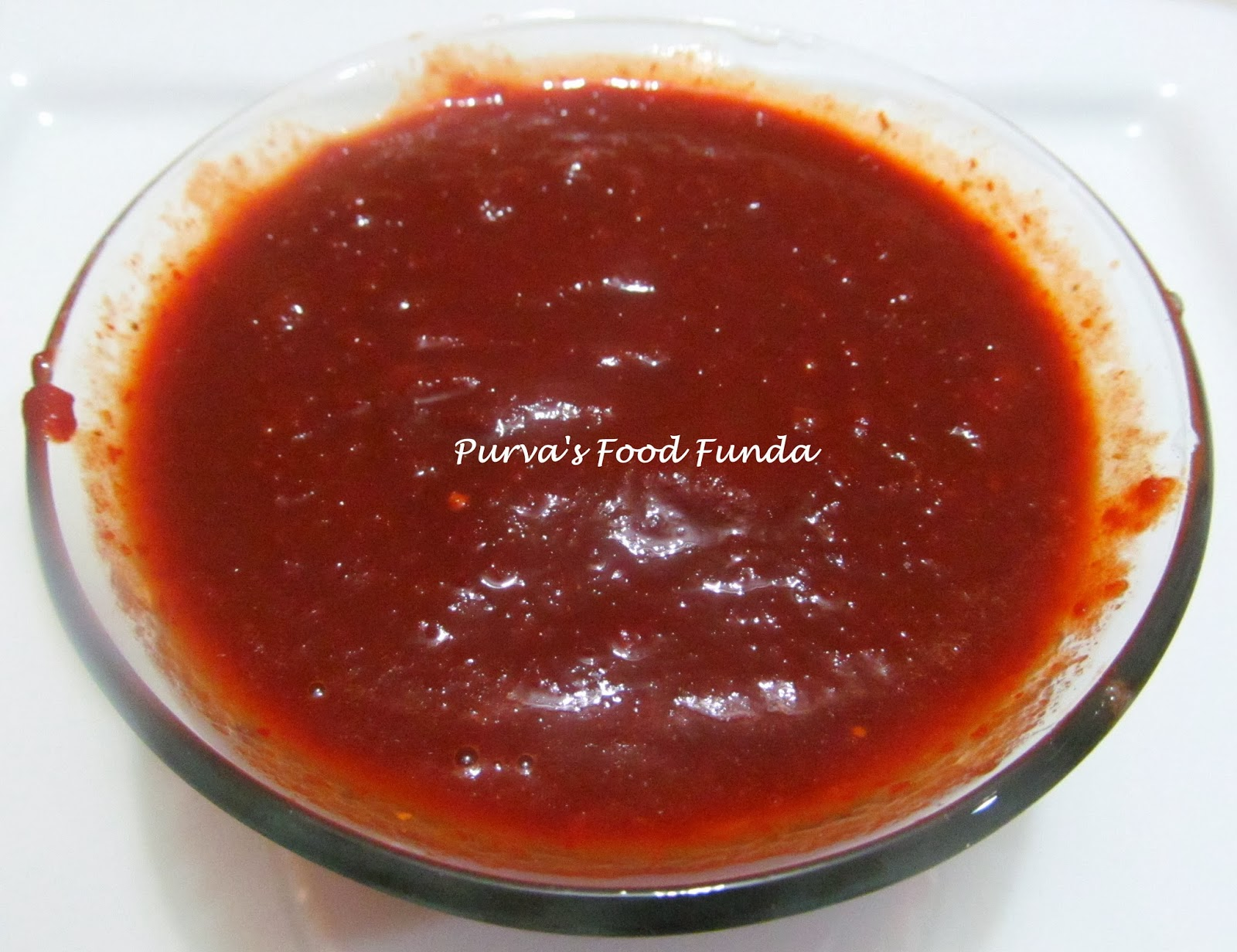 Food Funda: Red Chutney for Chat Recipes (Hot Chilli-Garlic Paste)
