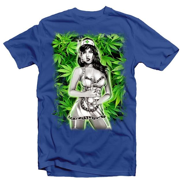 nurse cannabis tshirt