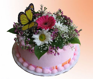 Mothers Day Cake Decorate With Flowers