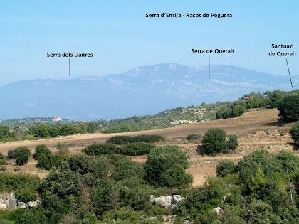 Les serres del nord de Berga des de la zona del Pla de l'Àngel