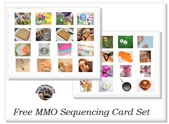Transformative image with free printable sequencing cards