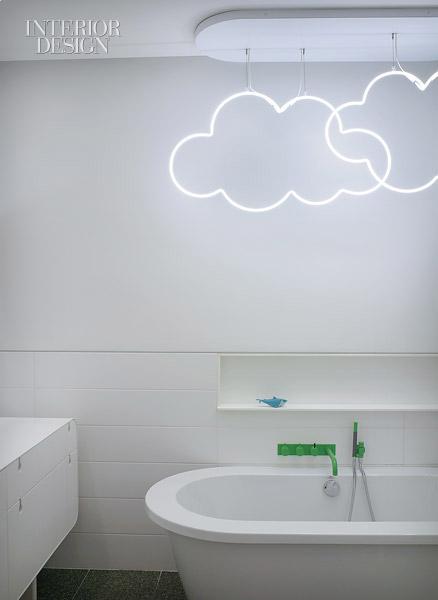 Облачный дизайн в ванной комнате