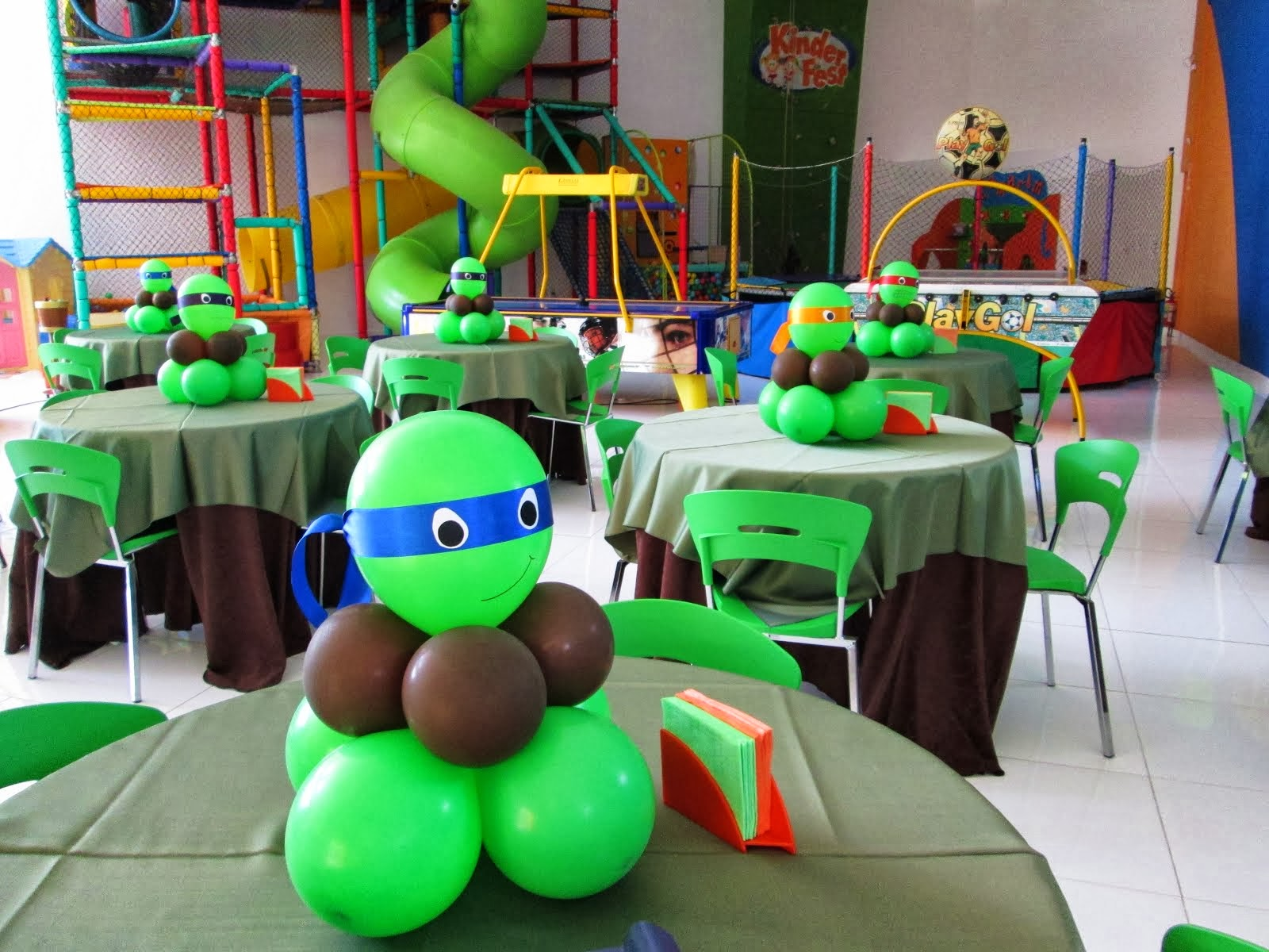 centro de mesa tartaruga ninja