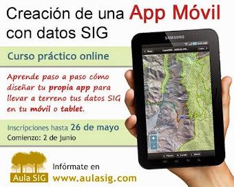 Curso on line de creación de una App móvil con datos GIS