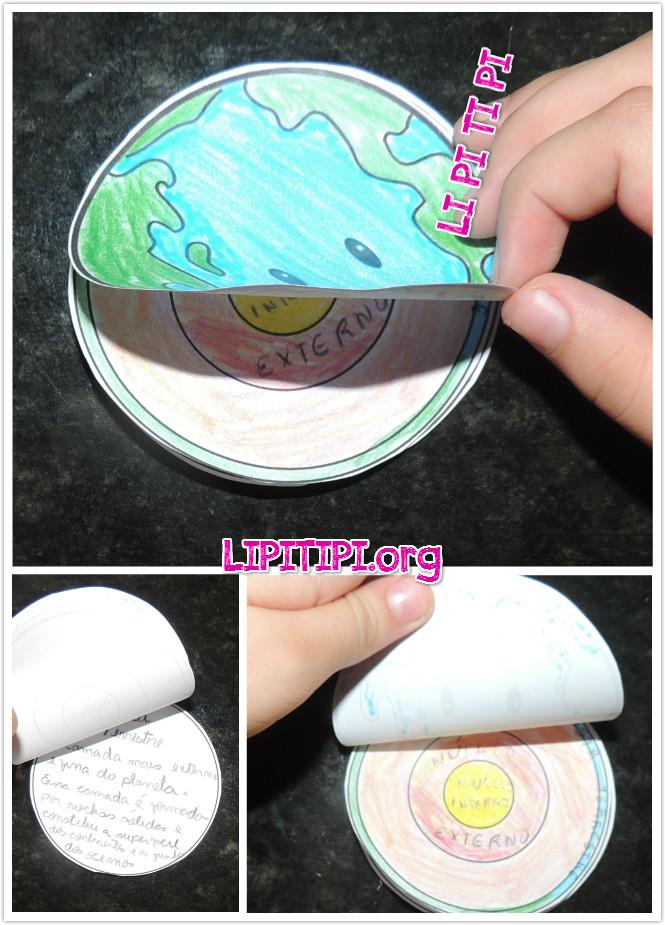 Atividade Lúdica Geografia Estrutura da Terra