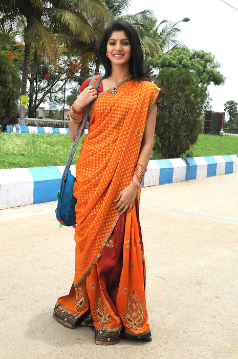 joshna in saree cute stills
