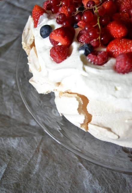 pavlova avec des fraises