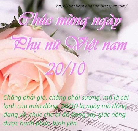 Những tin nhắn 20-10 đẹp nhất chúc mừng ngày phụ nữ Việt Nam