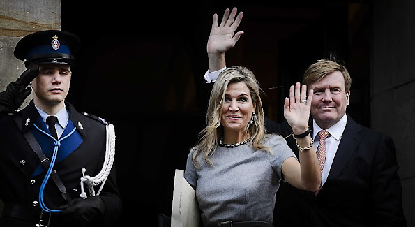 King Willem Alexander and Queen Maxima, Princess Beatrix, Princess Mabel, Princess Laurentien and Prince Constantijn of the Netherlands attend the 2015 Prince Claus Awards at the Royal Palace