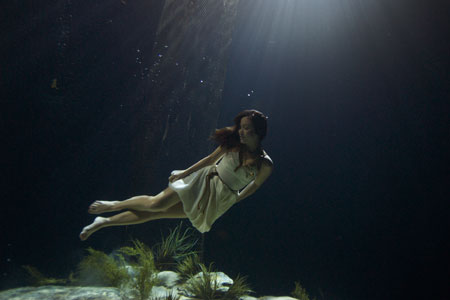 "Usually seen reporting from movie premiers for her monthly CNN film programme, The Screening Room, the singer-turned-presenter spent all day in a water tank at Pinewood Studios because she wanted to see how underwater scenes were filmed. Wearing a dress worthy of the red carpet, the 30-year-old mother was monitored by a stunt team and diving instructor who last worked with Angelina Jolie. Miss Klass said: ""I found the stunt a lot more exhausting and physical than I expected it to be. I was wearing three weight belts to keep me on the sea bed and I had to keep equalising, yet try and look gentile. ""My dress kept floating up over my head, my hair kept getting in my mouth and my eyes went red in the water. Being underwater was emotionally really liberating though."